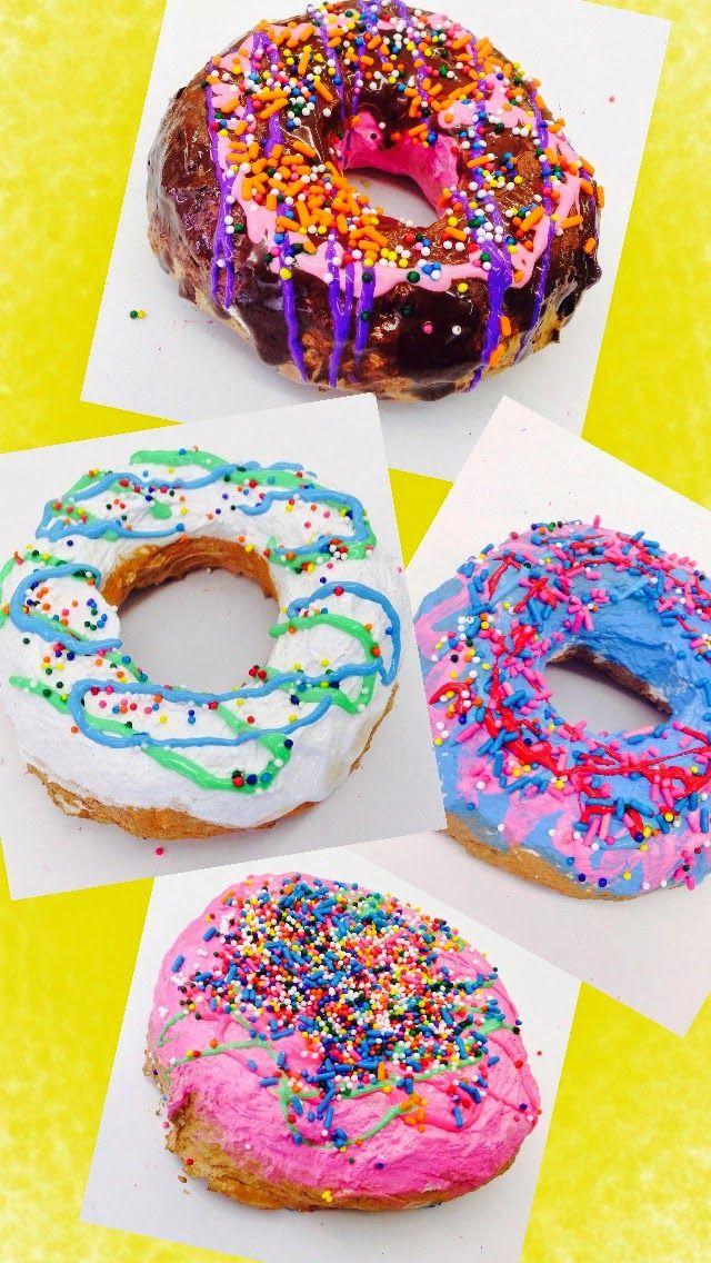 Gr. 3: Pop Art Donut Sculptures | PARK ART SMARTIES (papier-mâché, tempera, puffy paint, sprinkles)