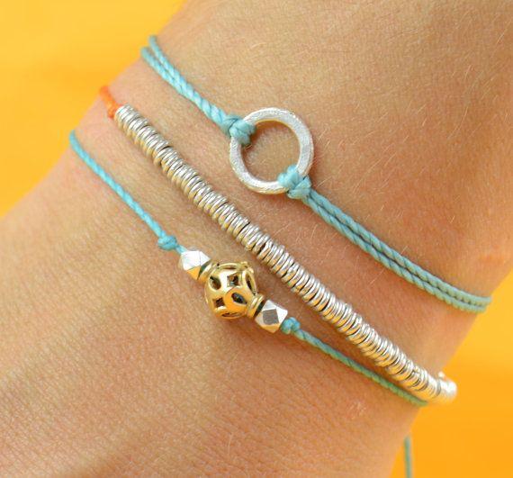 Delicate beaded bracelets from Spain. Love.