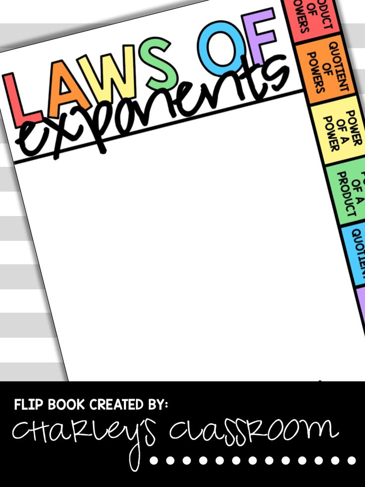 "Math has SO many rules for different topics. Sometimes it's hard for students to remember them all! Especially when it comes to math skills they don't use on a daily basis, such as exponents. I created ""Laws of Exponents Flip Book"" to help reduce the agony my learning support students were developing, while working with exponents. Also, being the special education inclusion teacher in the classroom, the regular education students thanked me for creating this as well! I made with the…"