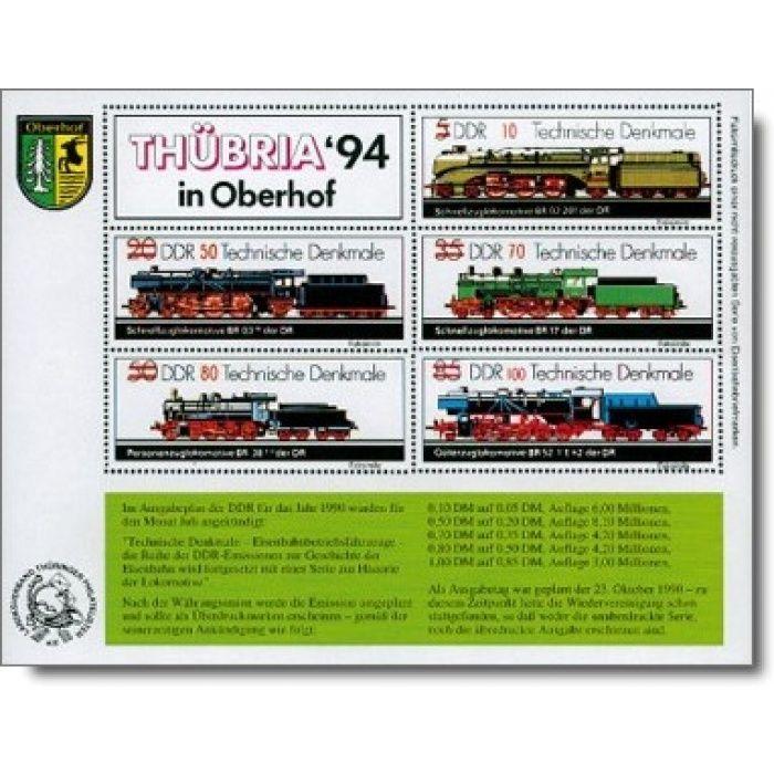 "THÜBRIA '94 in Oberhof ""Eisenbahn-Marke"" - Faksimiledruck, DDR"