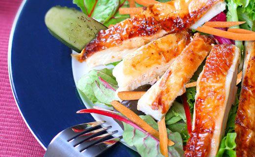 Lunch/Dinner: Epicure's Crisp Chicken Salad (290 calories/serving)