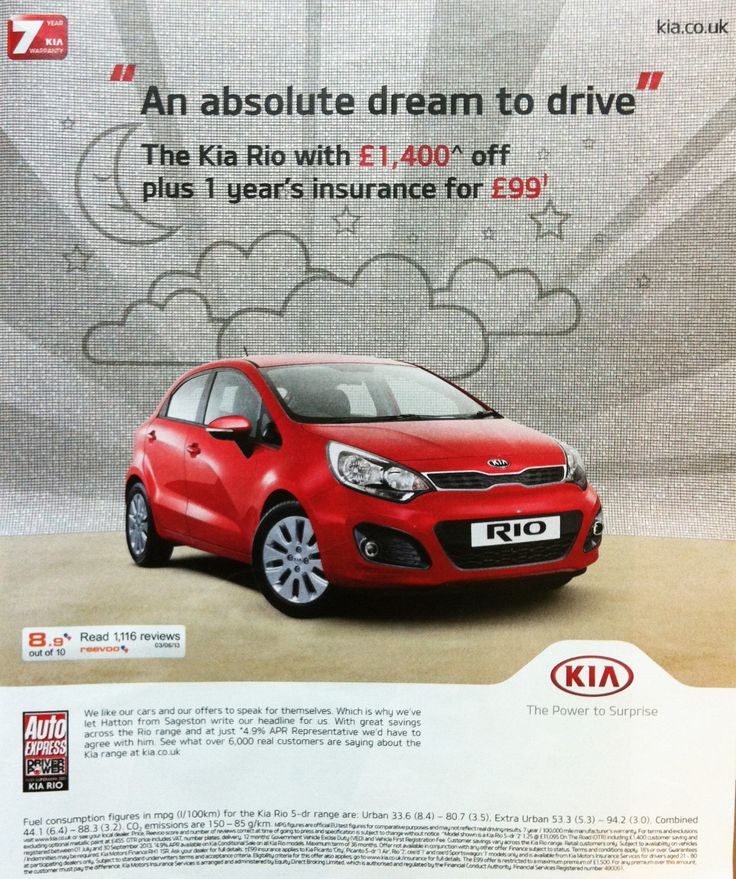 reevoo ratings on a kia ad published in the guardian weekend magazine kiario car. Black Bedroom Furniture Sets. Home Design Ideas