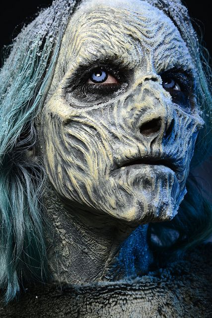 #MakeUp Designory #SpecialMakeUpEffects MUA April Townes #WhiteWalker MakeUp #GameofThrones