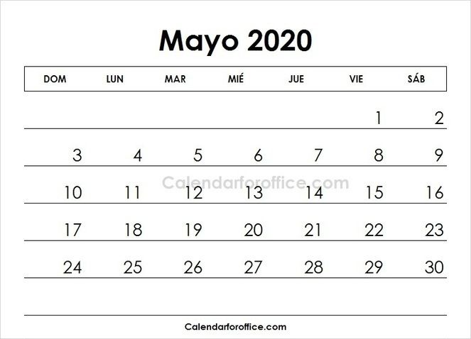 May 2020 Calendar Spanish 2019 Calendar March Calendar Printable