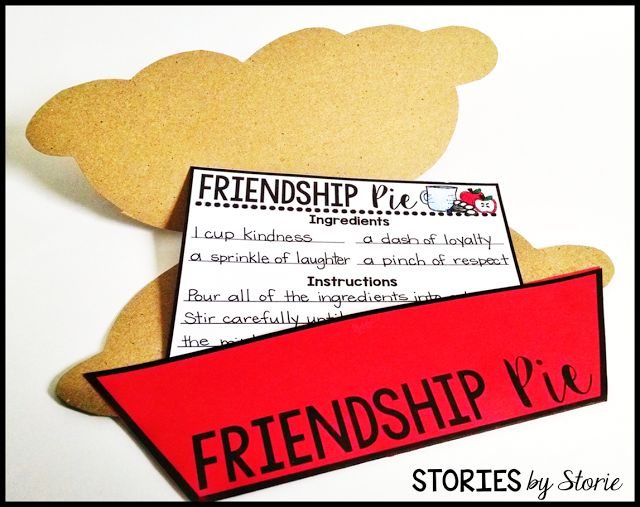 After reading Enemy Pie, you can have your students create a friendship pie recipe with this fun craft!