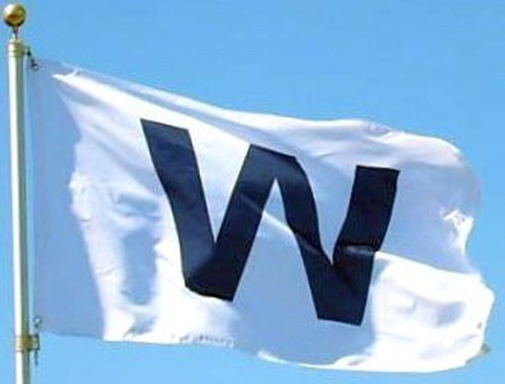 Chicago Cubs Win 3x5 - - - W Flag - - dark blue w flag - - - Cubs Banner - - ...