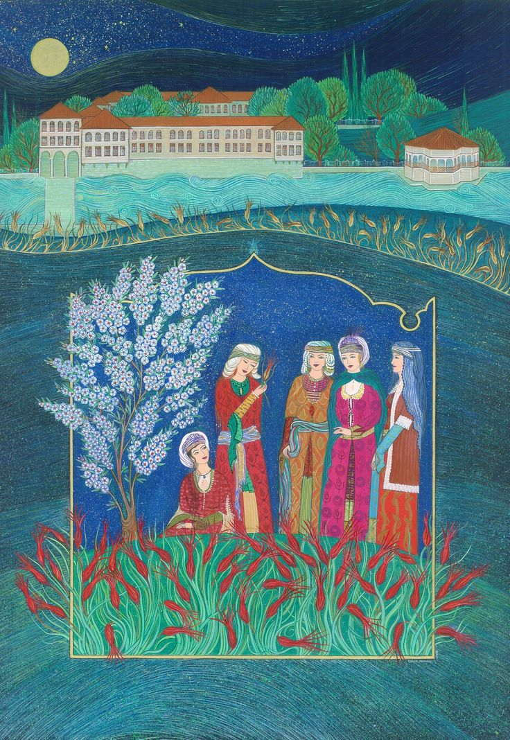 """""""Love for the Tulip Gardens in Sa'dabad Palace"""" by Gulcin Anmac."""