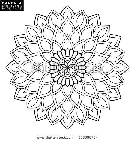 Flower Mandalas Vintage Elements Mandala Oriental Pattern With Vector Illustration