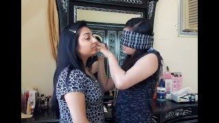 """Hey Emoz...  Here is d next part of our new series """"KNOCK OUT SERIES"""" and it is the Blindfolded Makeup Challenge . In these videos we will be challenging each other n u can also recommend us which challenge u want us to do.  Hope u ol wil like dis video... Keep watchng n do stay wid us by subscribng to our channel....  Follow us on TWITTER : https://twitter.com/DZrandomzz FACEBOOK : https://www.facebook.com/DZrandomzz INSTAGRAM : https://instagram.com/DZrandomzz"""