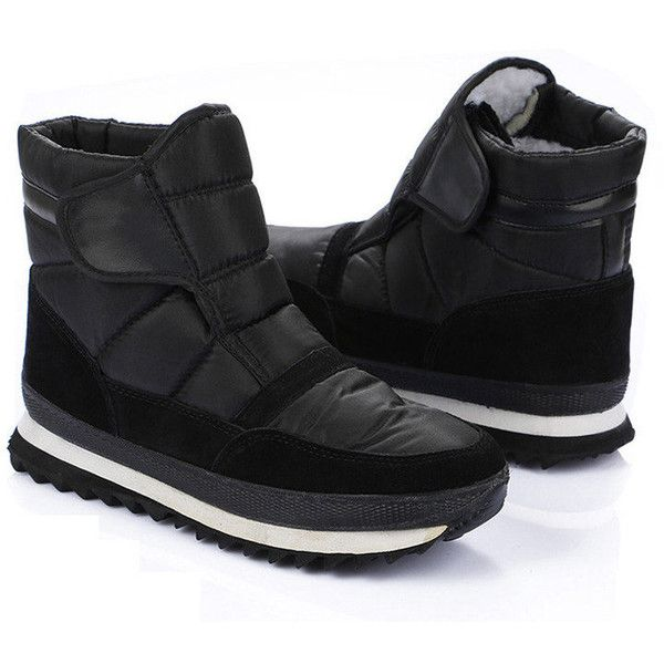 Big Size Nylon Tarps Hook Loop Warm Fur Lining Non-slip Snow Boots For... ($25) ❤ liked on Polyvore featuring men's fashion, men's shoes, men's boots, mens fur lined shoes, mens fur lined boots, mens fur lined snow boots, mens black boots and mens round toe cowboy boots