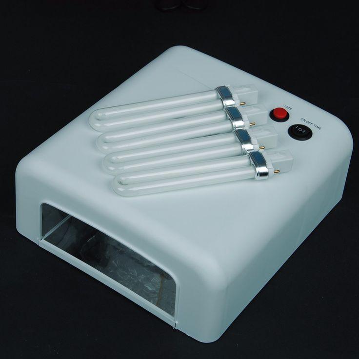 Nail art dryer gel curing uv lamp 36w 4x 9w light tube equipment tools high quality russia free shipping
