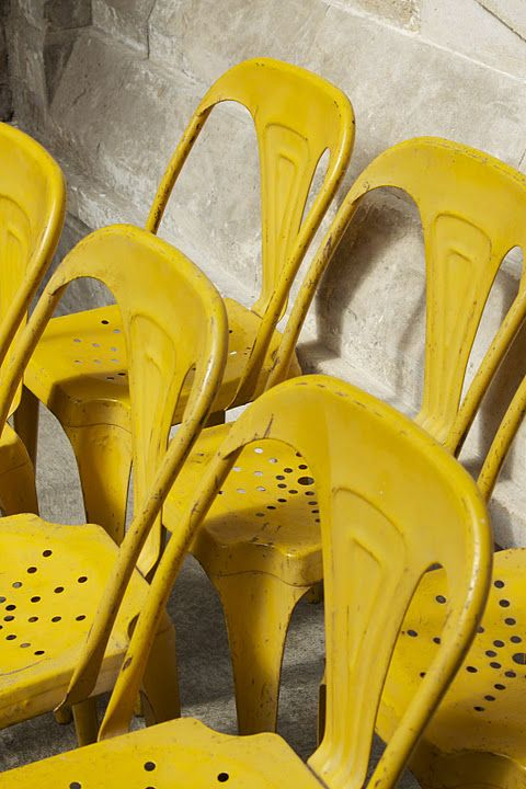Yellow | Metal | Classic | Chair | Vintage Industrial Furniture | Design Inspiration | Warehouse Conversion | Unique | Unusual | Contemporary | Loft Living | Warehouse Home Design Magazine