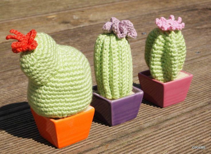 Cactus, fleurs et couleurs, crochet, diy, grame,