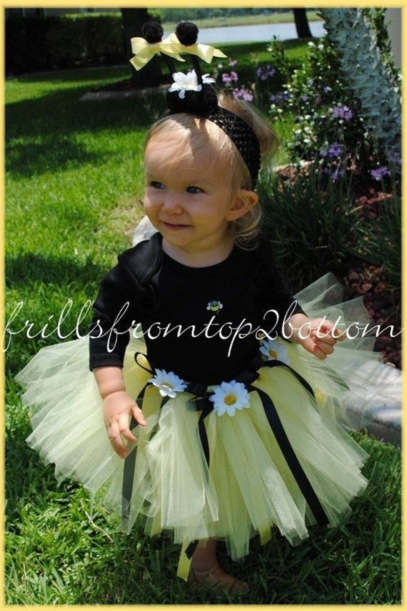 Newborn/Infant/Toddler Bumble Bee Tutu by frillsfromtop2bottom, $45.50