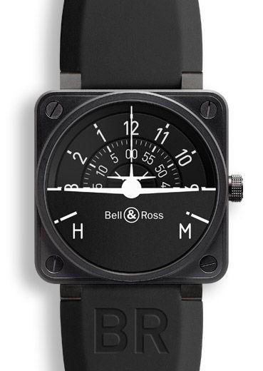 La montre BR 01 TURN COORDINATOR s'inspire de l'instrumentation des cockpits d'avion dont chaque pièce est une référence en termes de lisibilité, de fiabilité et de performance. L'affichage de la BR 01 TURN COORDINATOR rappelle le graphisme de l'instrument de référence, l'indicateur de virage ou Turn Coordinator.
