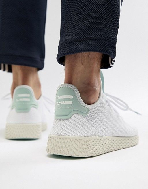 4a90dca617b3f adidas Originals Pharrell Williams Tennis HU Sneakers In White CQ2168