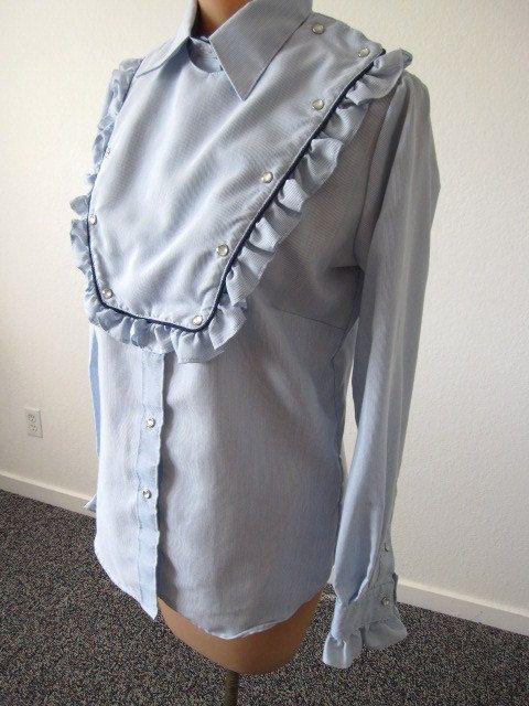 OMG - I must have this! $45 on Etsy! Rockmount Ranch Wear Western Pearl Snap Bib Shirt