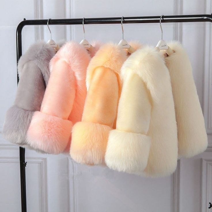 Winter Girl Faux Fur Coat Elegant Baby Girl Jacket Thick Warm Parka Kid Boutique #WinterGirlChina #BasicCoat #Dressy
