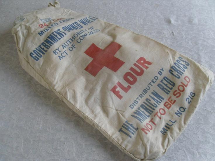 Old Fashioned Cloth Flour Sacks