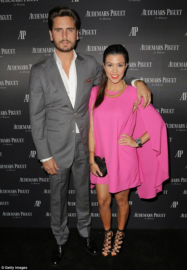 Support system: The 36-year-old reality star has urged former longtime partner Scott Disic...
