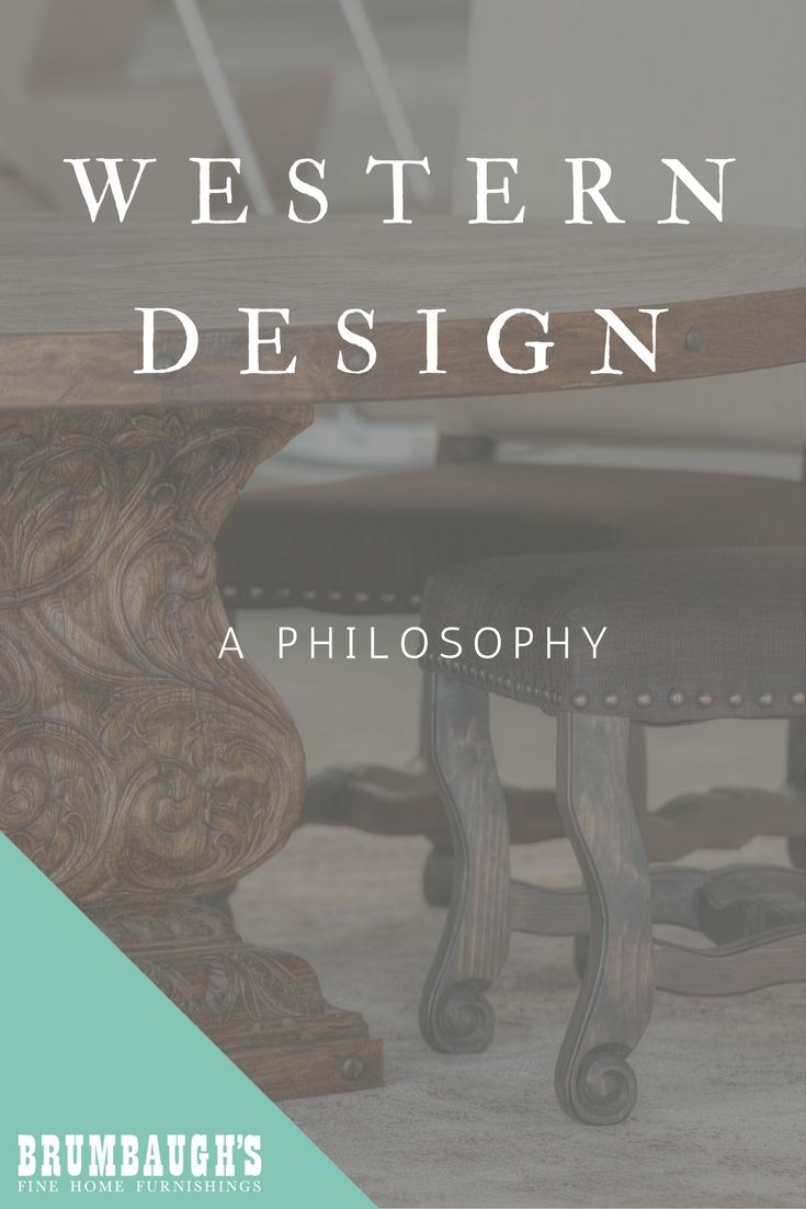 Western Furniture Design: A Design Philosophy