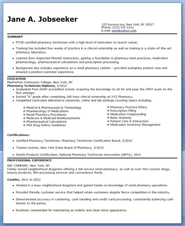 Pharmacy Technician Resume Objectives Superb Pharmacy Technician Resume Sample No Experience Pharmacy Technician Resume Examples Technician