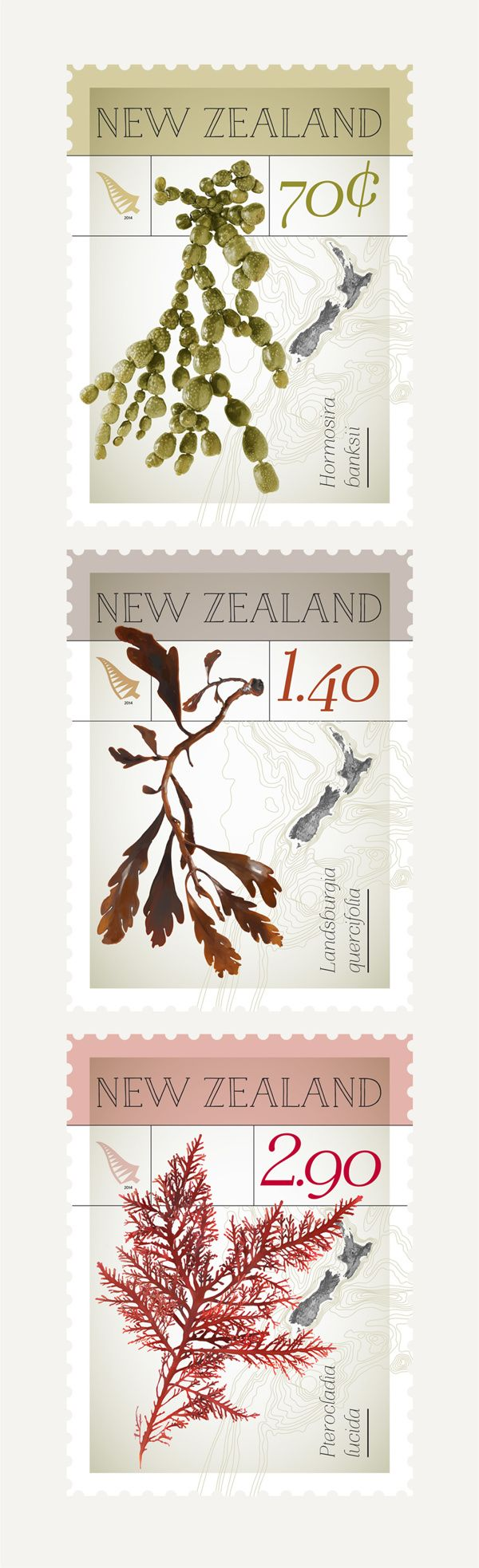 NZ Native Seaweed Stamps