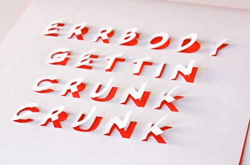 DIY posters with cut-out lettering | How About Orange
