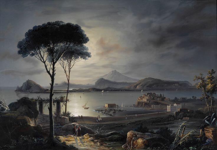 Gioacchino_Lapira_Bucht_im_Golf_von_Neapel.jpg (880×610) Gioacchino La Pira (1839–1870) Baia nel golfo di Napoli ....Gouache ..