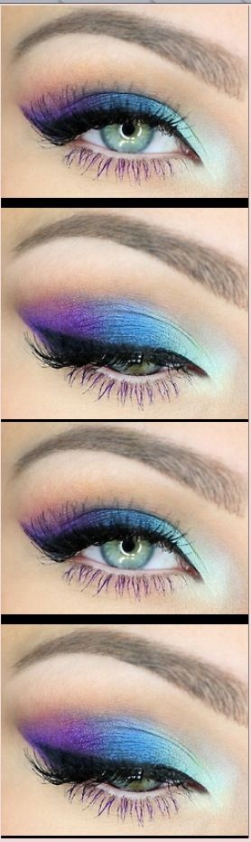 Blue and purple eyeshadow