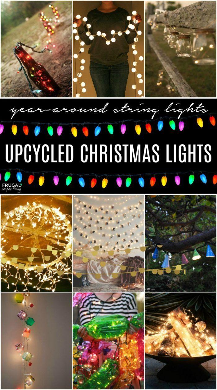 Christmas In July Upcycle Christmas Lights Diy Christmas Lights Christmas Lights Christmas In July