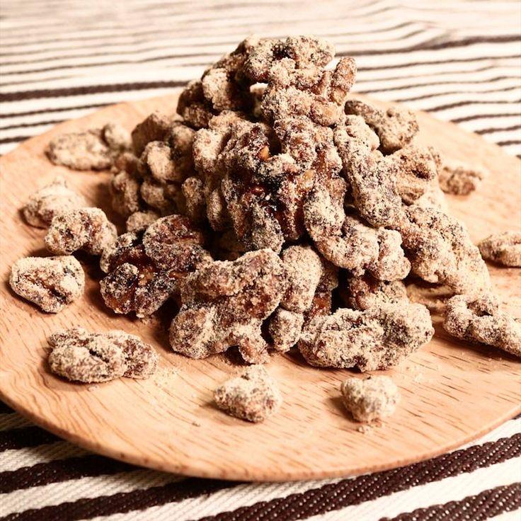 黒糖くるみきな粉のキャラメリゼ | 料理動画(レシピ動画)のkurashiru [クラシル]
