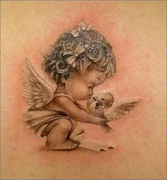 "Cute angelic tattoo from ""Tattoo You"" http://www.facebook.com/MadeByTattooYou"