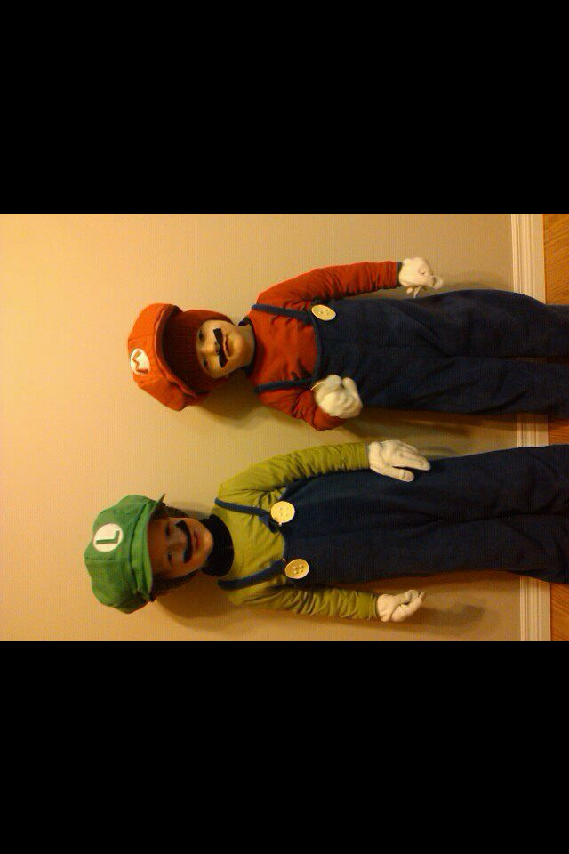 Mario Bros Halloween boys costumes DIY