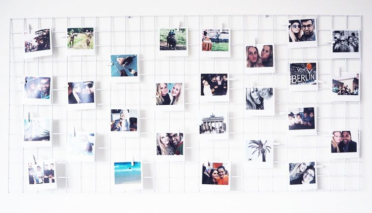 EDGY GRID AND POLAROIDS ON THE WALL