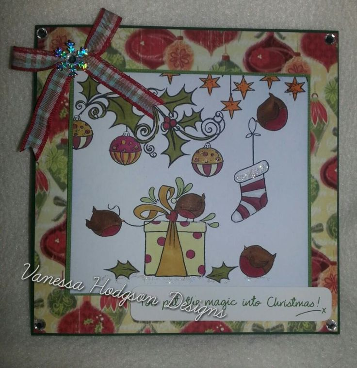 Christmas card using Hobby Art stamps