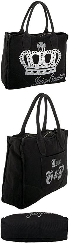 Juicy Couture Bags. Juicy Couture YHRU1710 Power Tote Queen Of Couture Tote,Black,one size.  #juicy #couture #bags #juicycouture #couturebags