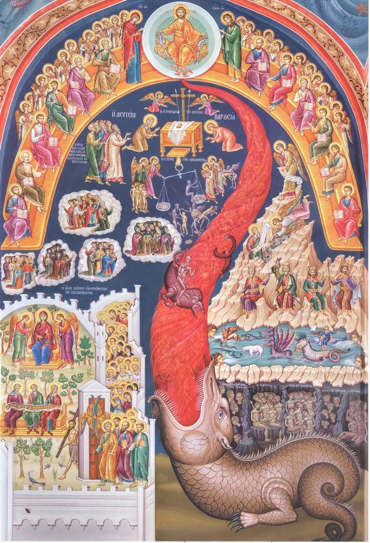 Icon of the Last Judgement and the River of Fire.