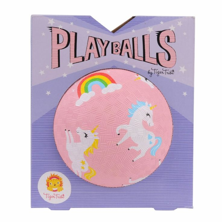 Bounce, throw, catch, kick or roll — these beautifully illustrated Play Balls are the perfect size for little people. Great for developing hand-eye coordination, the balls are made from durable rubber with a great texture to make them easier to catch and grip! #unicorn #play #ball #active #kids #toys #gifts #cute #love #littlebooteekau