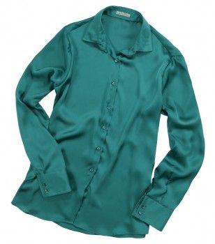 Camicia verde smeraldo a tinta unita. Seguici anche su                           www.redisrappresentanze.it