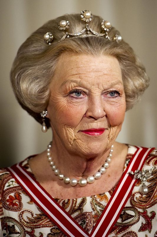 Queen Beatrix of the Netherlands. there is something very young about her. and look at that great head of hair! the lighting is perhaps not flattering, but I do really like it.