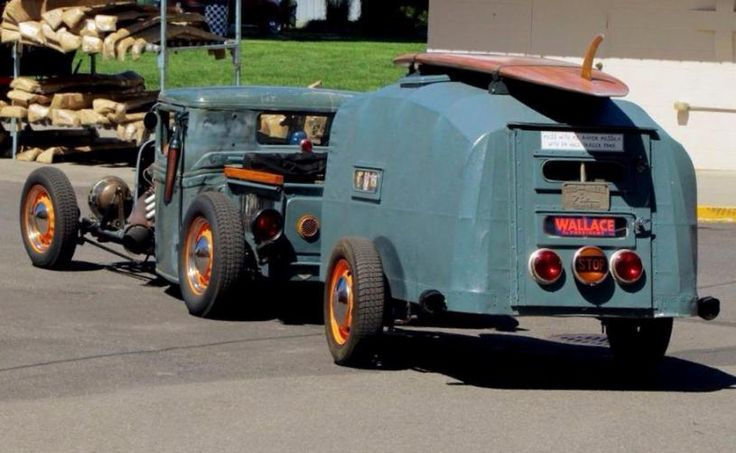 Compact Trailer Supported Adventuring Rat Rod style
