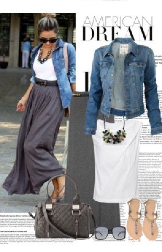 Die besten 17 Bilder zu Long Gray Skirt auf Pinterest | Grau ...