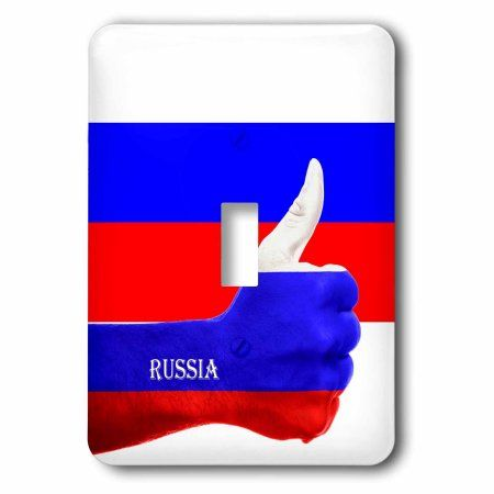 3dRose Flag of Russia Thumbs Up Pride, Single Toggle Switch