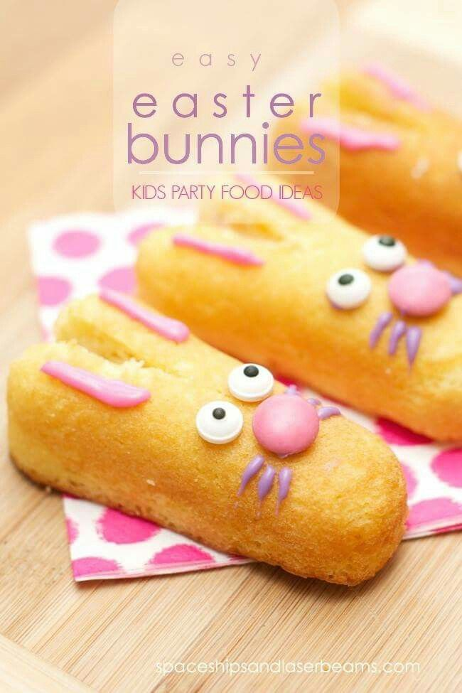Easter bunnies made from twinkies