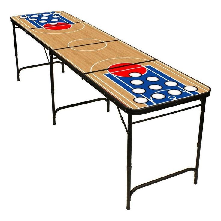 Red Cup Pong 8 Folding Beer Pong Table With Bottle Opener