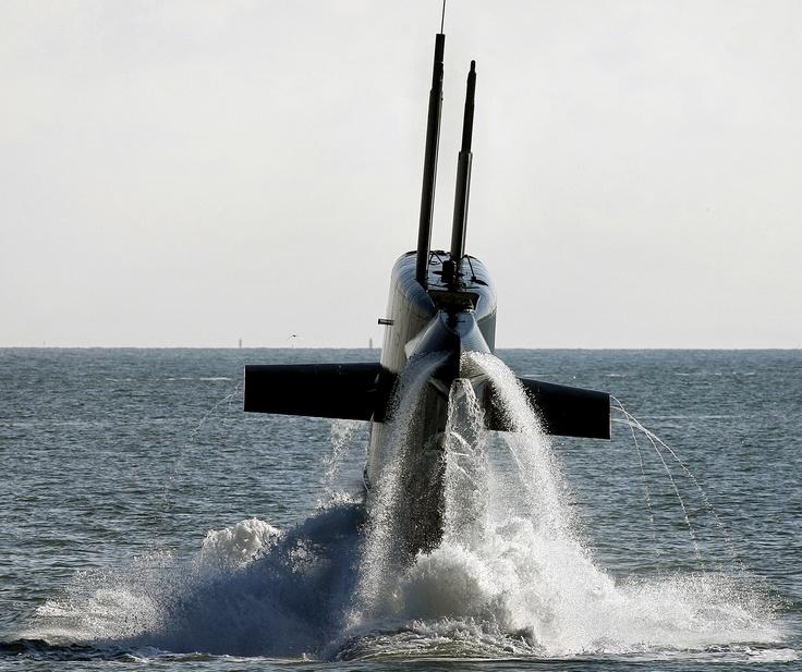 DEN HELDER - De Nederlandse onderzeeboot Hr.Ms. Bruinvis. Foto ANP