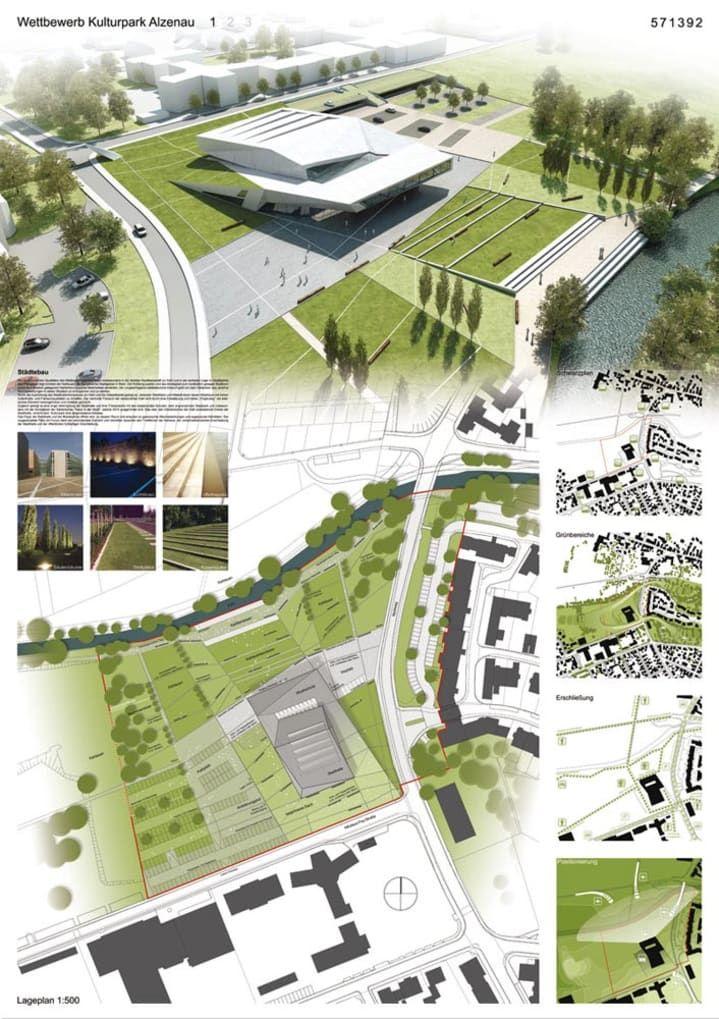 Kulturpark Alzenau Architecture Design Landscape Presentation Board Graphics