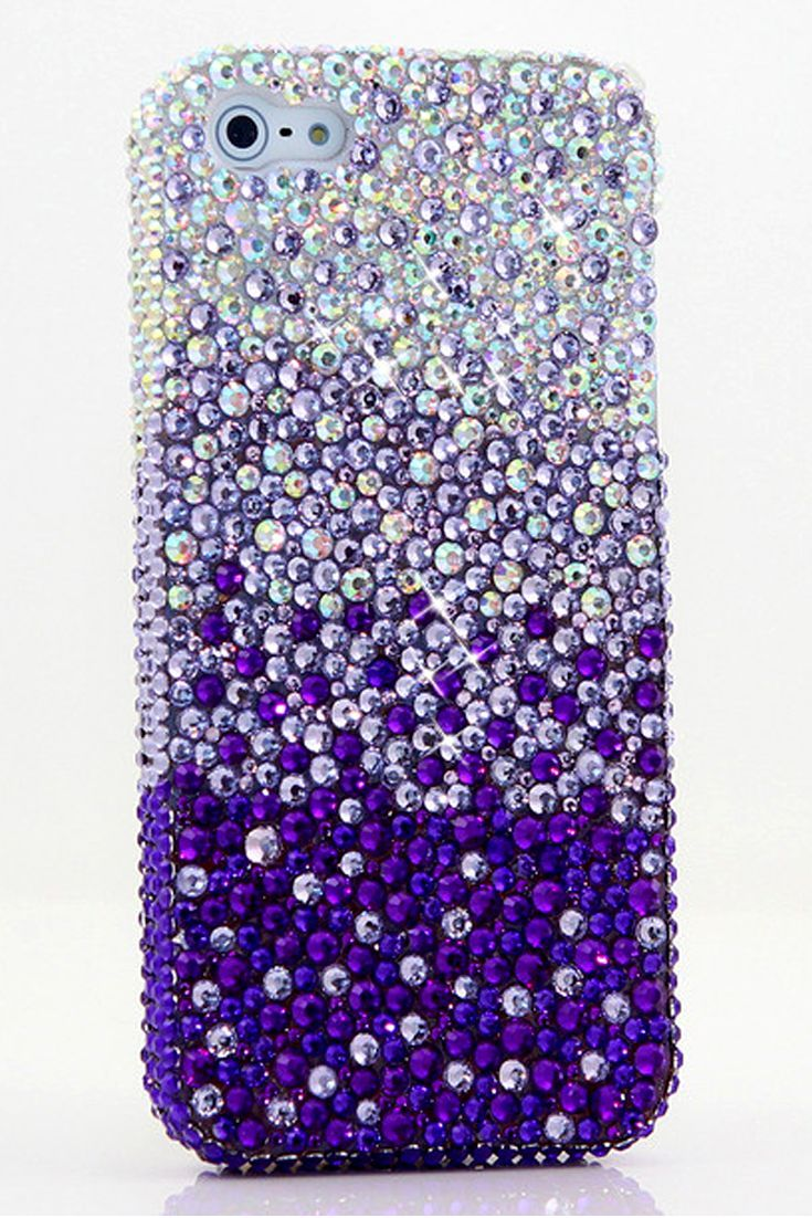 AB Crystals Fades to Purple Design   Cute iPhone 5c cases bling for girls - Protective Awesome iPhone 5c cases glitter for teens