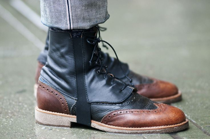 two tone boots::be still my heart! How I love menswear!